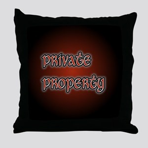 PrivatePropertyButton35 Throw Pillow